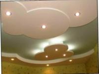 Ремонт потолка гипсокартоном